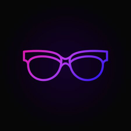 Spectacles linear colored icon. Vector sunglasses sign