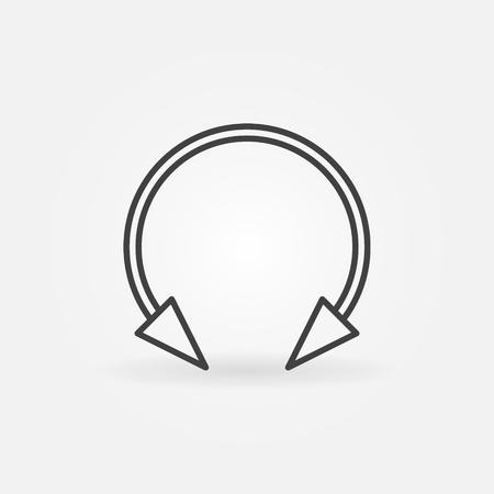 Spike circular barbell earring linear icon. Vector symbol Ilustração