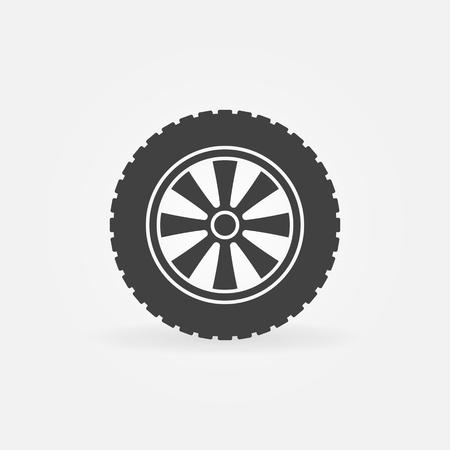 Vector automobile wheel icon or logo element