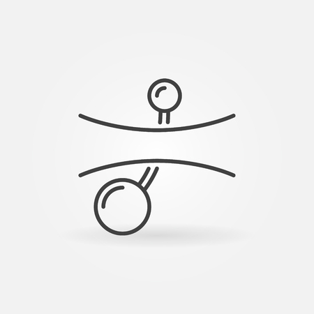 Belly button piercings line icon. Vector navel piercing symbol.