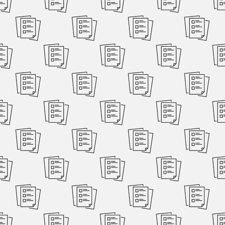 To do list vector linear seamless pattern or background Ilustrace