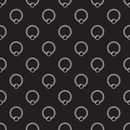 Piercing vector seamless pattern made with captive ring icons