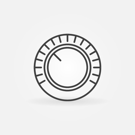 Volume vector concept icon in thin line style Çizim
