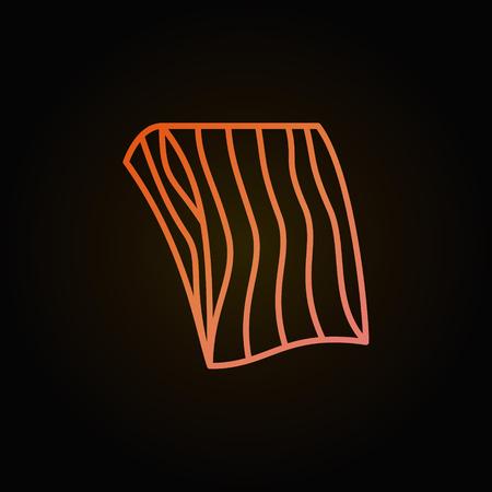 Zalm of forel filet vector creatief overzicht pictogram