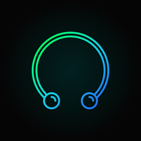 Circular barbells horseshoe colored icon - vector line symbol Иллюстрация