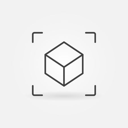 AR Cube linear icon. Vector augmented reality symbol