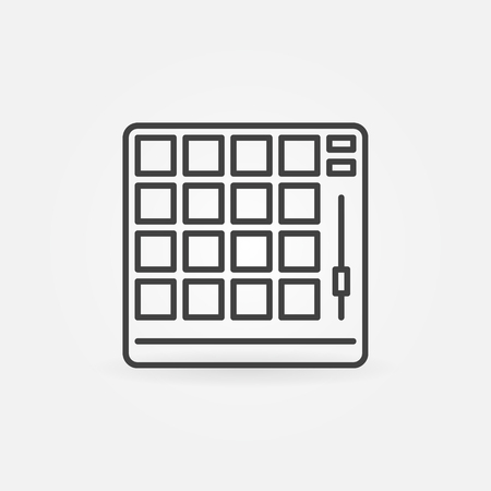 Drum machine vector concept icon in thin line style Illustration