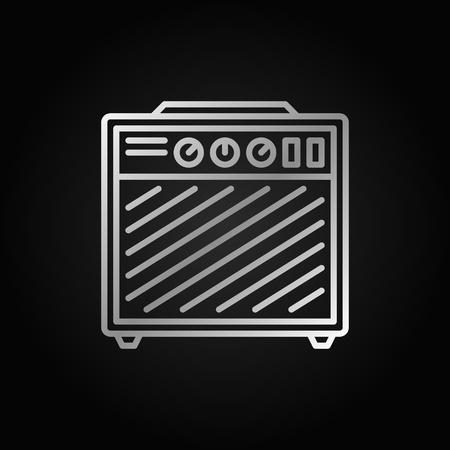 Amplifier silver outline icon on dark background