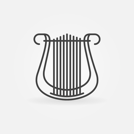 Lyre vector concept icon in thin line style
