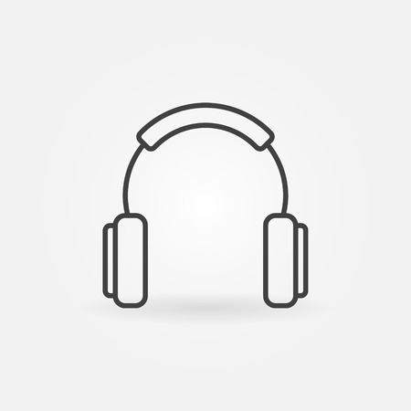 Headphones outline simple vector concept icon or design element