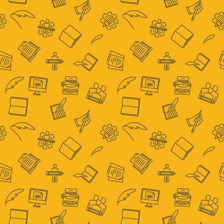 Copywriting et réécriture modèle transparent vecteur jaune