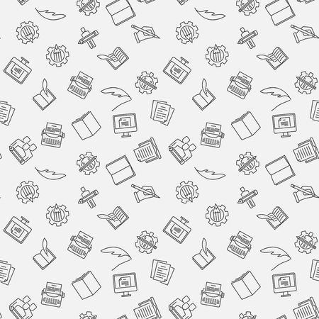 Writer vector Seamless Pattern or background
