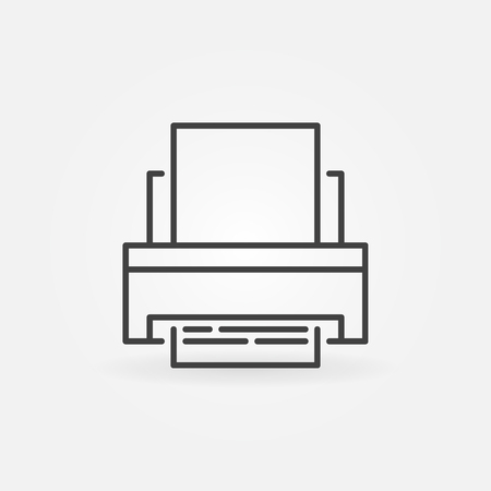 Printer vector concept icon in thin line style