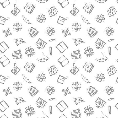 Copywriting and Blogging vector seamless pattern Ilustração
