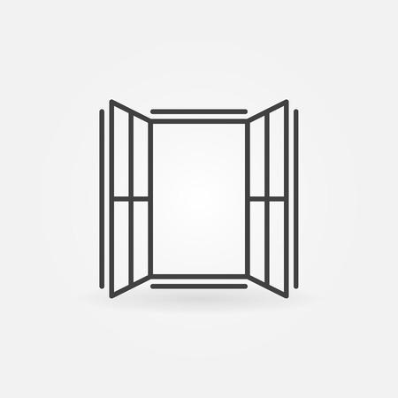 Window outline icon - vector concept sign Vector Illustratie