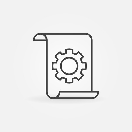 Technical documentation concept linear vector icon