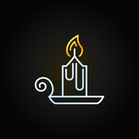 Christmas old fashioned candle line vector icon Banque d'images - 111602179