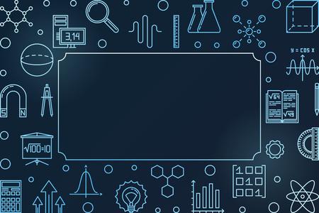 STEM learning blue modern horizontal frame. Vector illustration Illustration