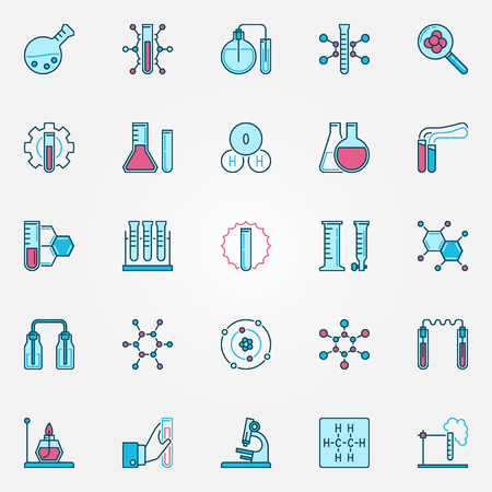 Chemistry creative icons set. Chemical Science vector signs