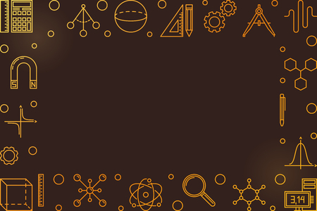 STEM colorful vector frame with empty space for text
