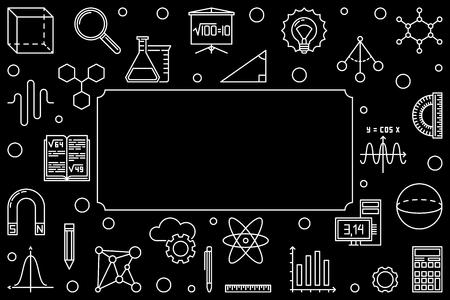 STEM horizontal frame - vector concept linear illustration Illustration