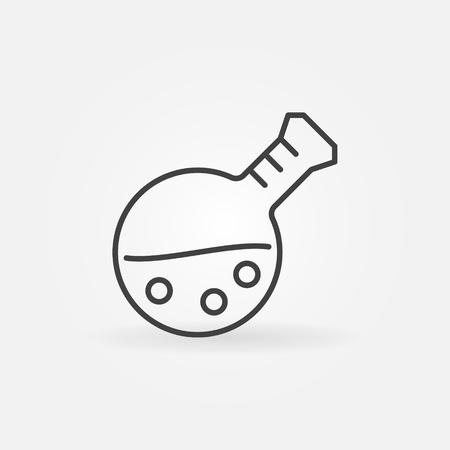 Icône de contour de flacon. Symbole de concept de verrerie de chimie de vecteur Vecteurs
