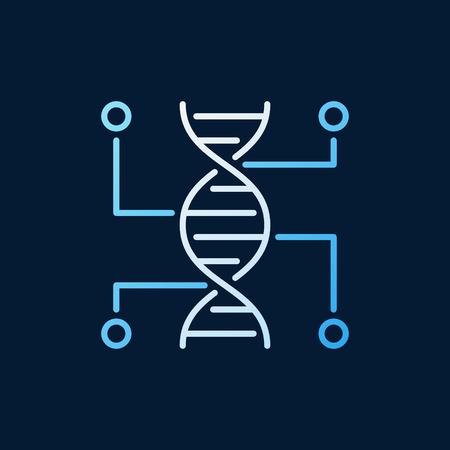 Genetic Testing vector colored outline icon. DNA line sign