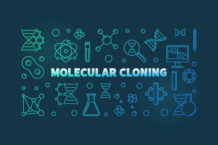 Molecular Cloning vector colorful outline illustration
