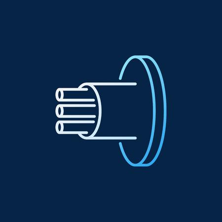 Fiber Optic Cable vector colored linear icon Banco de Imagens - 120097119