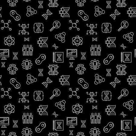 Vector Cloning concept dark linear seamless pattern