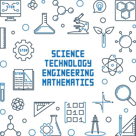 Science, Technology, Engineering and Mathematics frame Ilustração