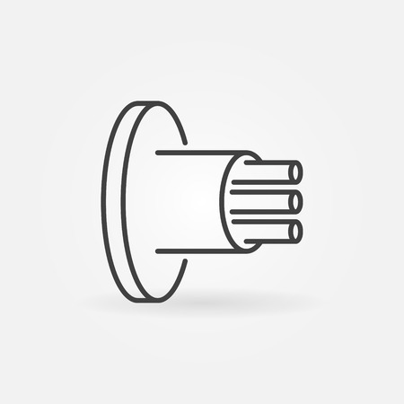 Fiber Optic Cable vector icon in outline style
