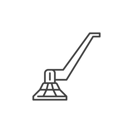 Sander for Screed vector concept icon in thin line style