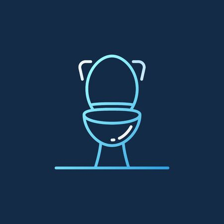 Toilet vector concept colored outline icon on dark background
