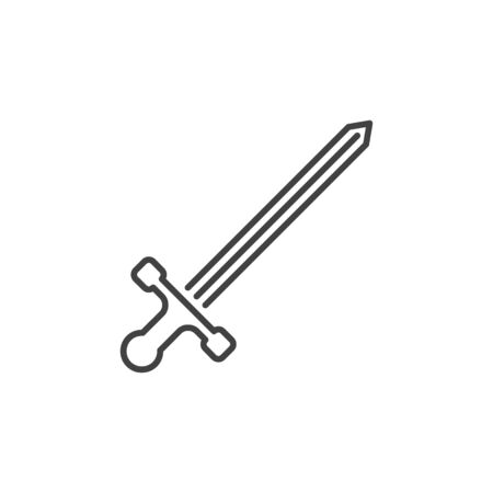 Sword vector concept simple icon in linear style  イラスト・ベクター素材