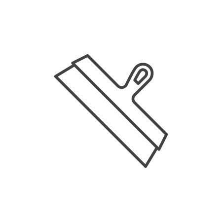 Facade Spatula vector concept outline icon