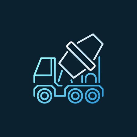 Concrete Mixer Truck vector concept colorful outline icon