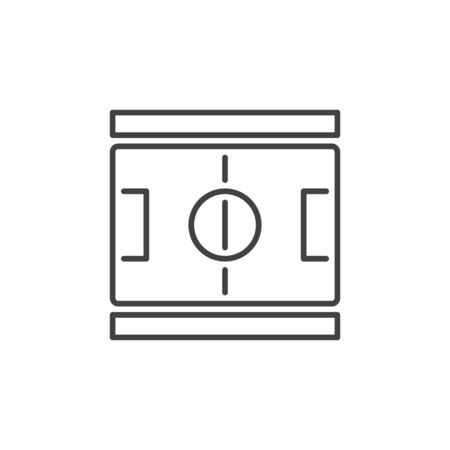 Football Pitch outline concept icon. Vector Soccer Field symbol