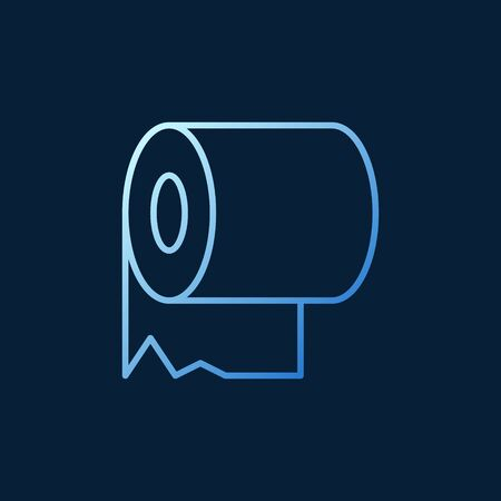 Toilet paper vector modern colorful concept outline icon Иллюстрация
