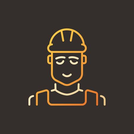 Builder vector creative colored outline icon