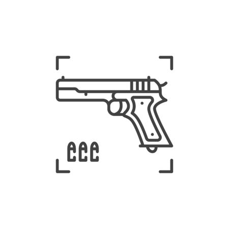 Gun vector concept icon in thin line style  イラスト・ベクター素材