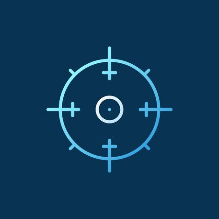 Aim vector concept outline icon on dark background