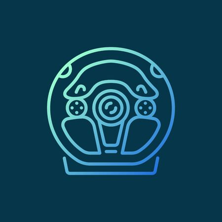 Gaming Racing Wheel vector concept colored outline icon