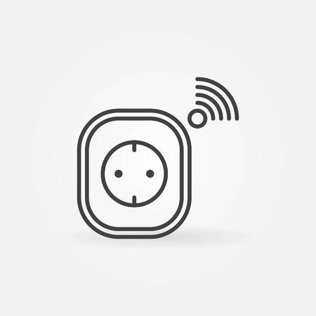 Smart Socket vector concept icon in thin line style Ilustração
