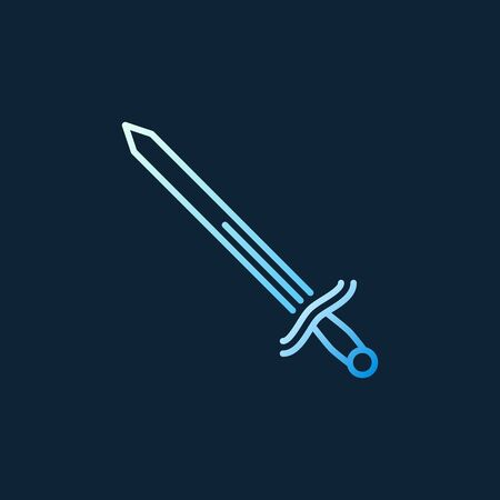 Sword vector concept colorful linear icon on dark background