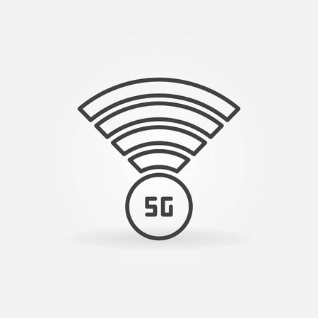 5G Antenna concept outline vector icon in thin line style