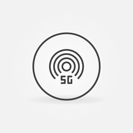 5G technology in circle vector outline icon