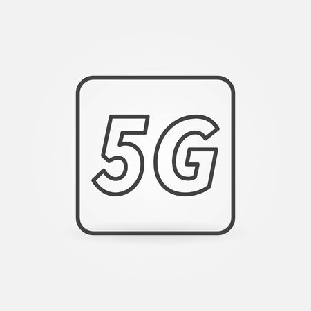 5G technology concept vector icon or sign in outline style