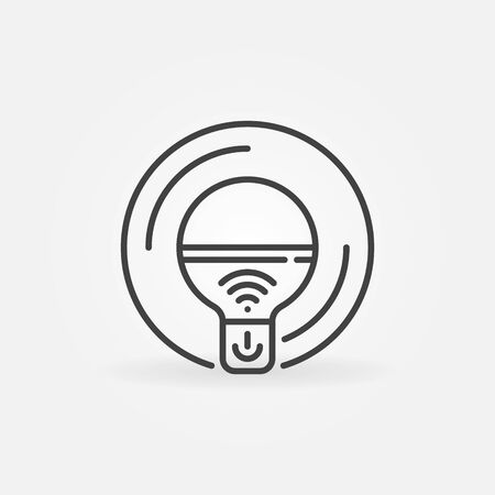 WiFi Smart Bulb outline icon. Vector smart bulb linear symbol