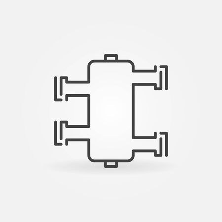 Hydraulic separator vector concept icon in thin line style